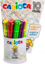 Carioca 42761 Confezione 12 Penna 10 Colori Fluo