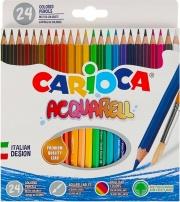 Carioca 42858 Confezione 24 Pastelli Acquarellabili