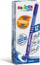 Carioca 4303902 Confezione 12 Penna Cancellabile Blu Oops