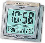 Casio DQ-750-8ER Sveglia Digitale con Display colore Acciaio  Silver