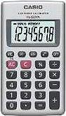 Casio Calcolatrice tascabile 8 Cifre Col. Argento - HL-820 VA