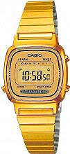 Casio Orologio Donna Digitale cassa e Cinturino Acciaio Oro LA670WGA 9DF Vintage
