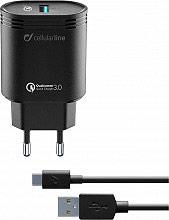 Cellular Line ACHHUKITQCTYCK Caricabatterie da Rete Universale Cavo USBType-C