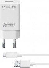 Cellular Line ACHSMKIT15WMUSBW Caricabatterie Rete Universale 15W USBMicroUSB