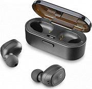 Cellular Line BTSHADOWTWSK Auricolari Bluetooth Wireless con microfono Nero BTSHADOW Shadow