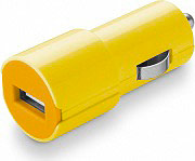 Cellular Line CBRUSBSMARTY Caricabatterie auto Universale USB smartphone Giallo