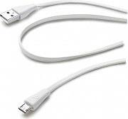 Cellular Line USBDATACMICROUSBW Cavo Dati USB A to Micro USB B MaschioMaschio