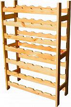Ceola 4134-42 Portabottiglie Vino 42 Bottiglie in legno Massello 63x25x98h