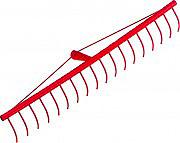 Ceppi Rastrello per FienoFoglie alluminio Denti tondi 20 denti 135