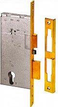 CISA Serratura Elettrica Porta in Legno 22 mm 2 Mandate Testata Ottone 12011600