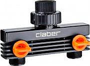 """Claber 8589 Presa Rubinetto 34"""" 2 Vie per Centraline Irrigazione"""