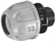 Claber 90271 Raccordo collegamento per tubo giardino 32 mm con elettrovalvola