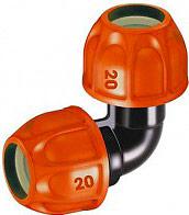 Claber 90322 Raccordo angolo per tubo giardino irrigazione interrata 16.6-20 mm