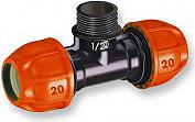 Claber 90325 Raccordo a T per Microirrigatore Colibrì con tubo giardino 20 mm