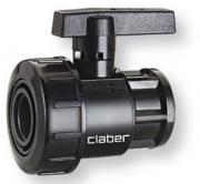 """Claber 90917 Rubinetto Valvola manuale per Tubi 1"""""""
