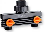 """Claber 91589 Presa Rubinetto 34"""" 2 Vie per Centraline Irrigazione"""