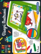 Clementoni 15263 Play Creative - Disegni Mostruosi - Giochi di Creatività