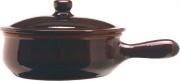 Coli PR09-25 Casseruola 1 manico in Terracotta cm 25 con coperchio  Bruna