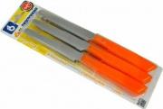 Bonomi 30006ANSC Confezione 6 coltelli da tavola Inox e manico plastica Arancio