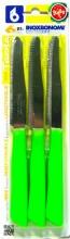 Bonomi 30006VSC Confezione 6 coltelli da tavola Inox e manico plastica verde
