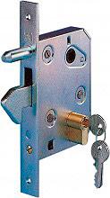 Combi Arialdo 350 Serratura Cancello Cilindro e Gancio 95x130 mm Entrata 60 mm