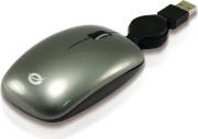 Conceptronic CLLM3BTRV Mouse USB Viaggio Ottico 3 Tasti