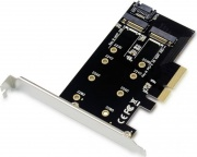 Conceptronic EMRICK04B 2-In-1 M.2 Ssd Pcie Adapter Sata