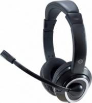 Conceptronic POLONA02BA Cuffie con Filo e Microfono Comandi USB colore Nero