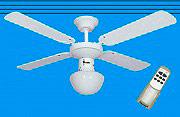 CONCORD WS42-4C1L Ventilatore da Soffitto con Luce lampadario 105 cm+telecomando