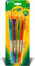 Crayola 3007A Confezione 5 Pennelli Assortiti