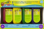 Crayola 3239 Confezione 4 Tempere a Dita Lavabili Mk