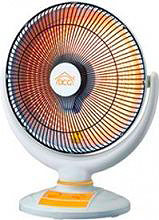 DCG Eltronic Stufa quarzo elettrica 1000 Watt Oscillante Timer Bianco SA9670