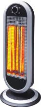 DCG Eltronic Stufa elettrica Carbonio 900W Oscillante col Nero  Argento SA9837