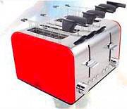 DCG Eltronic Tostapane Professionale per Toast 4 Fette 1400W TA8660