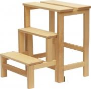 DELTA TRADE 520-2 Sgabello legno 3 gradini 36.5x42.5x57h cm  Ribalta