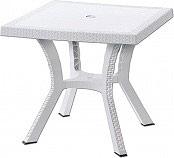DIMAPLAST FIGARO ELITE Tavolo da Giardino Plastica eff. Rattan Quadrato 79x79x72