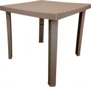 DIMAPLAST PAS083 Tavolo da giardino in resina 80x80 cm Tortora Figaro