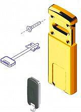 DISEC Defender Magnetico serratura doppia mappa col Oro Lucido PVD MG 220