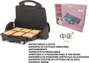 DPM LT44 Tostapane Tostiera Piastra per Toast Antiaderente 6 Fette 2000W Nero