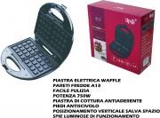 DPM TXS083B Macchina per Waffle Piastra Antiaderente 750 Watt Nero  Edo Rì