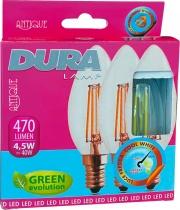 DURALAMP TRIFCND-W Led Set 3 Candela 4W E14 L470 2700K Calda Confezioni 10