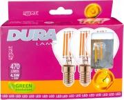 DURALAMP TRIFSFR-C Led Set 3 Sfera 4W E14 L470 6400K Fredda Confezioni 10