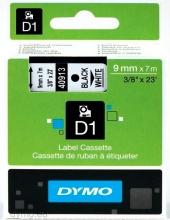 DYMO S0720680A Nastro D1 9mmx7m NeroBianco S0720680