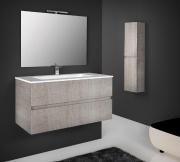 D ISANTO MOBILI BASPH80ROCO Set Mobile sotto lavabo bagno legno 79x45x48h cm Specchio Splash