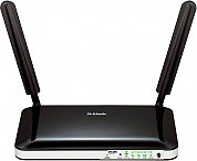 D-Link Modem Router Wireless WLAN 150 Mbits 4 LAN 3G 4G 2 Antenne DWR-921E