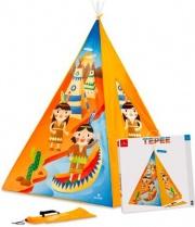Dal Negro 55752 Tenda Gioco Bambini Giardino 112x112x160cm Casetta Indiani Tepee