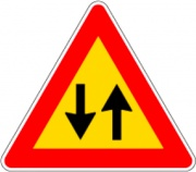 Db 3030811387 Cartello Stradale Doppio Senso D&B