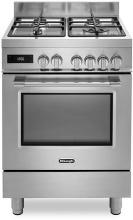 De Longhi PRO 66 MX P Cucina a Gas 4 Fuochi Forno Multifunzione 60x60 cm Inox