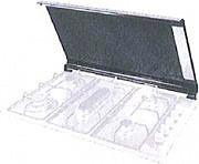 De Longhi CVN9 PL Coperchio Piano Cottura 90 cm in Cristallo col Nero