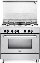 De Longhi DEMW 96 Cucina a gas 5 Fuochi Forno Elettrico Ventilato 90x60 cm Bianca